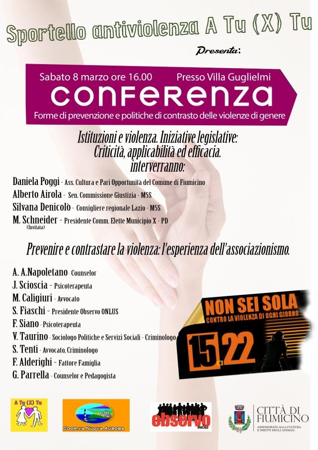 Convegno sulla violenza di Genere 8 Marzo 2014 FIUMICINO